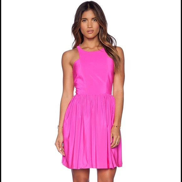 de48c45bac96 Amanda Uprichard Dresses | Nwt Elle Silk Mini Dress In Pink | Poshmark